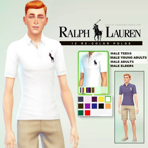 Polos For Males The Sims 4 Catalog
