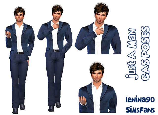 Just A Man 2 CAS POSES - The Sims 4 Catalog