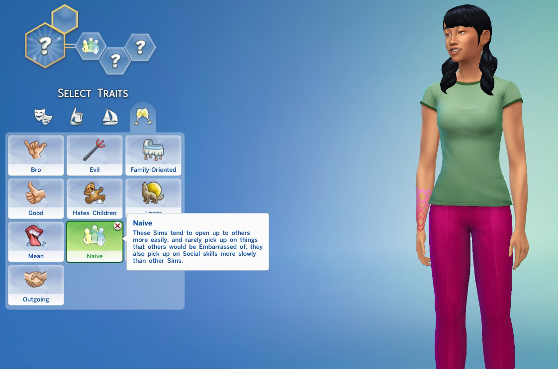 Naive trait the sims 4 catalog for Mods sims 4 muebles
