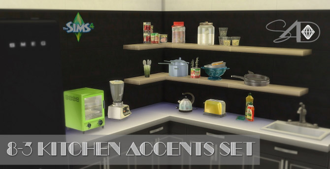8-3 Kitchen Accents set conversions - The Sims 4 Catalog