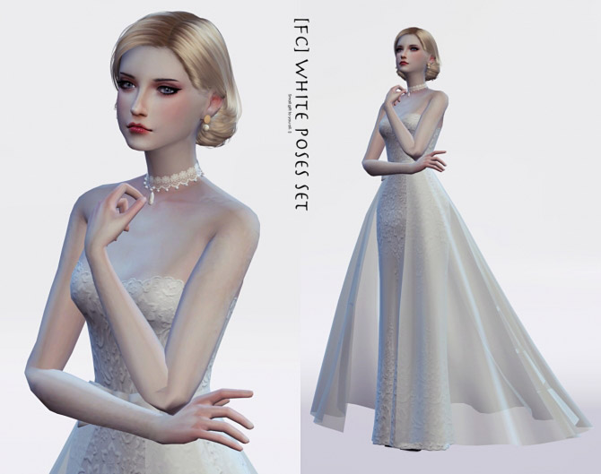 WHITE (Dress Special) poses - The Sims 4 Catalog