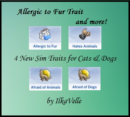 Sims  Cats And Dogs New Traits