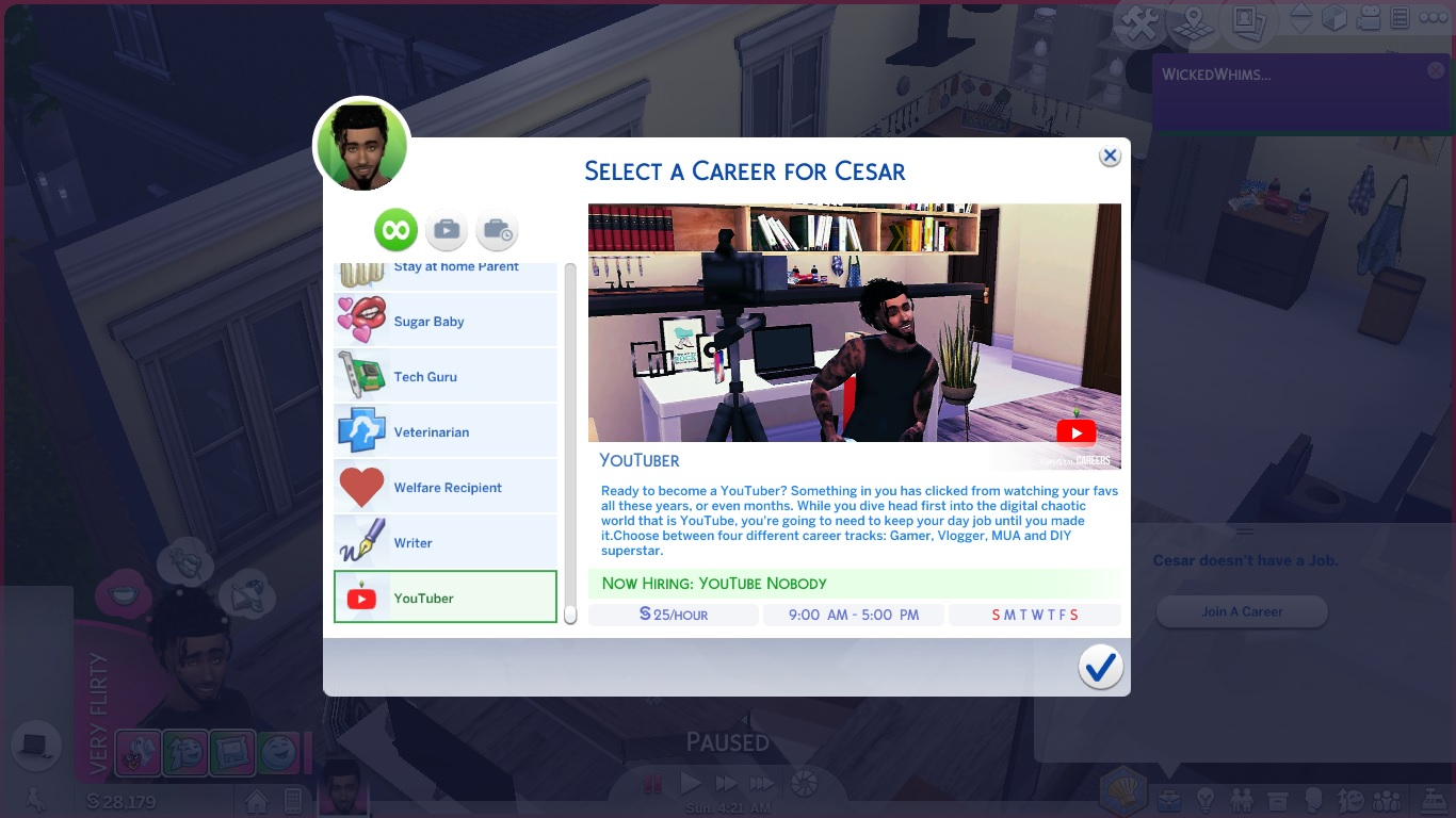 YouTuber Career - The Sims 4 Catalog