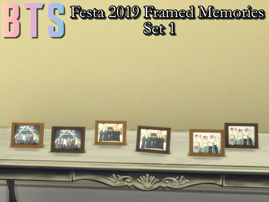 BTS Festa 2019 Framed Memories Set - The Sims 4 Catalog