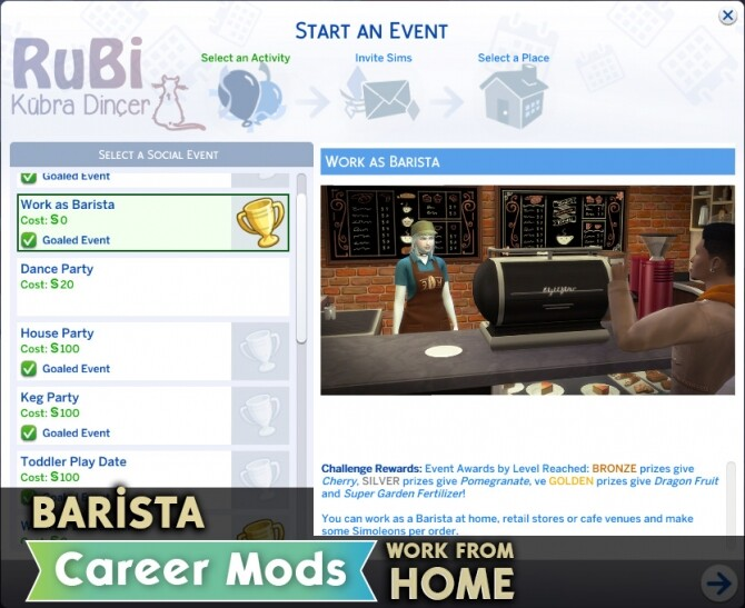 Barista Career Mods By Rubi The Sims 4 Catalog
