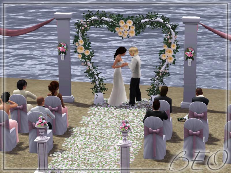 Beach Wedding Sims 3