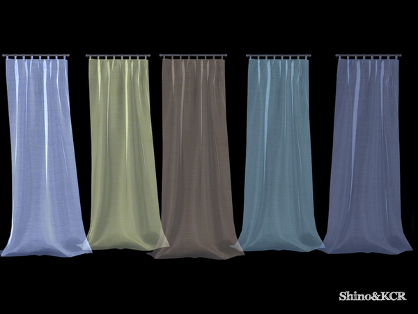 The Sims 4 Curtains And Canopy S Curtain Sheer Right