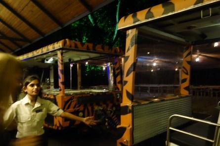 The car that took us through the safari