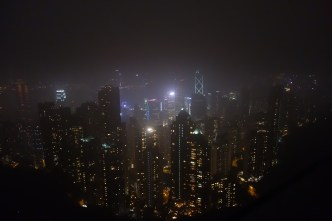 Foggy view from Victoria Peak