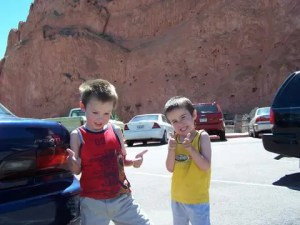 The Single Mom Blog - Father's Day - Boys at The Garden of The Gods