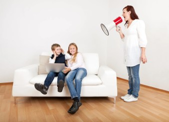 The Single Mom Blog: Back to School, mom yelling at kids on couch, bored kids, kids no listening