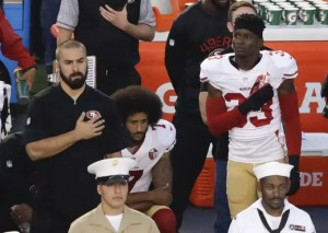 Colin Kaepernick Sitting During National Anthem