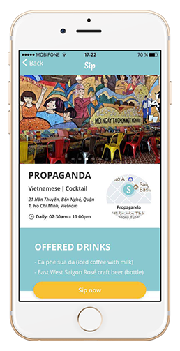 Sip | Iphone with propaganda venue