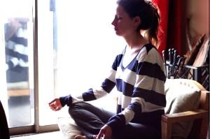 Girl Sitting Meditation