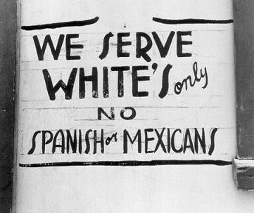 White Serve Whites Only