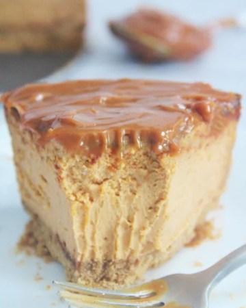 Air Fryer Dulce de Leche Cheesecake