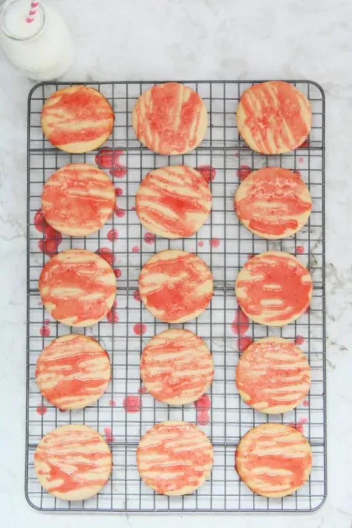 Strawberry Shortbread Cookies