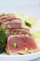 Pan seared blackened ahi tuna steaks