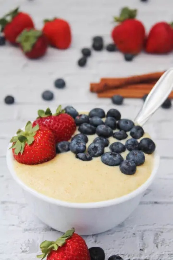 Homemade Farina Cereal with Fruits
