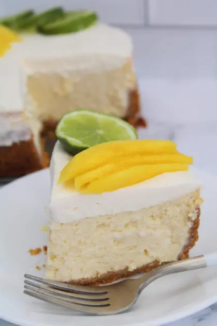 Instant Pot Mango Margarita Cheesecake