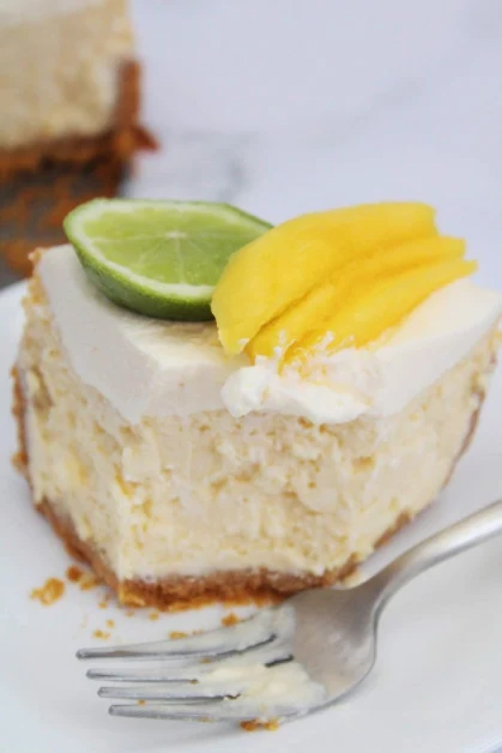 Margarita Cheesecake made inside the instant pot.