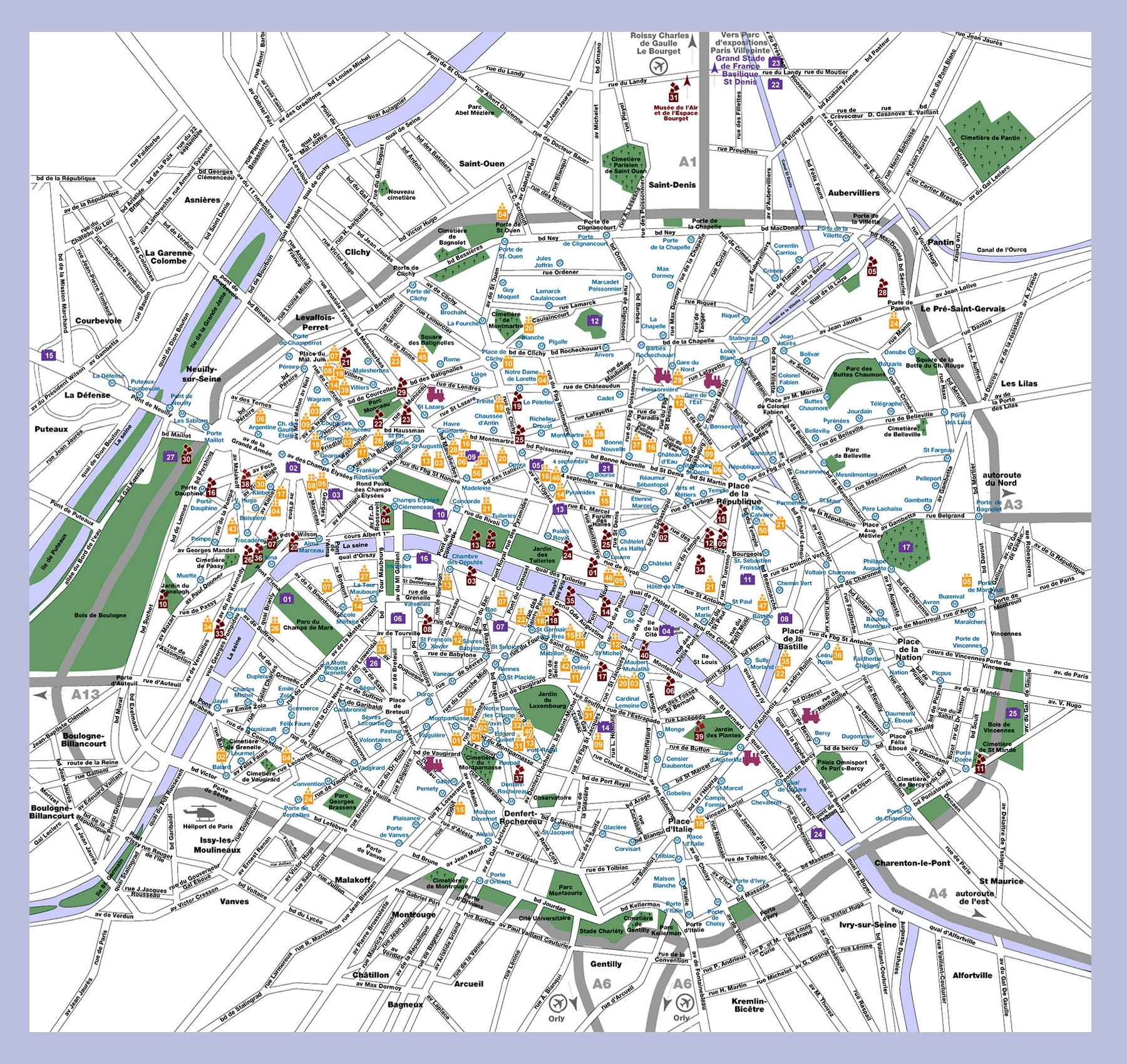 Map Of Paris In English Afp Cv