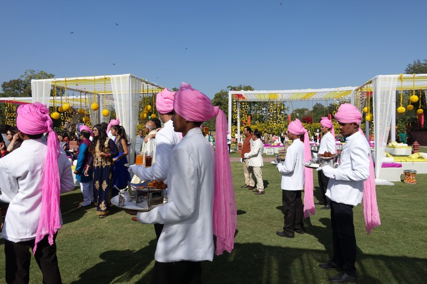 Waiters at the Mehendi