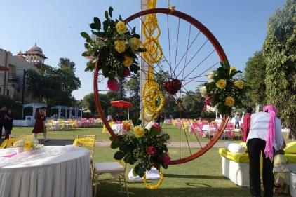 Floral arrangement at the Mehendi