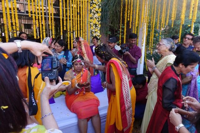 Bride at Haldi