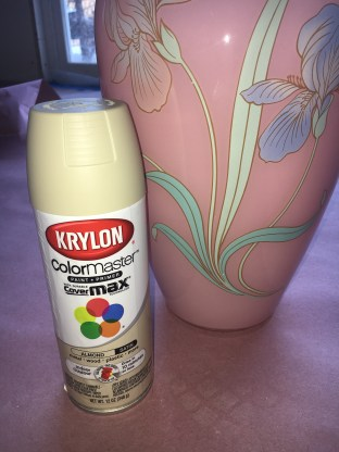 tuscan vase upcycle_first step almond paint