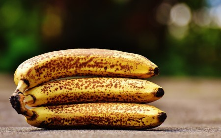 banana bunch mottled brown specks