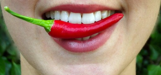 chili bite hot red lips mouth