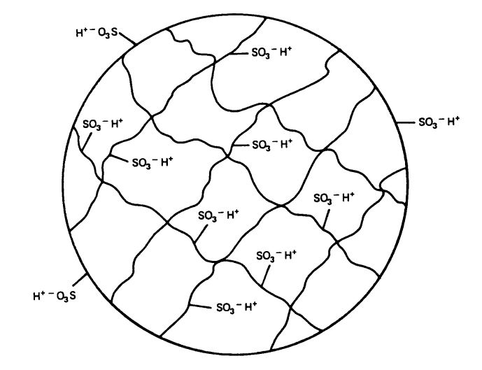 diagram resin sulfite ions cross linked polymer