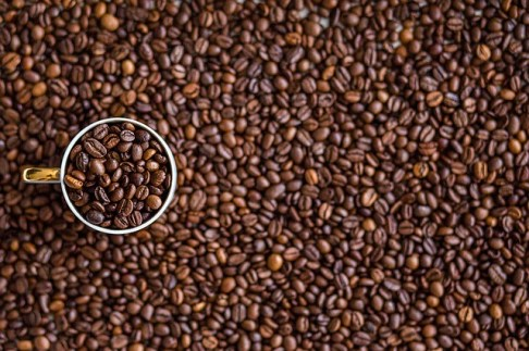 coffee beans many cup brown roast