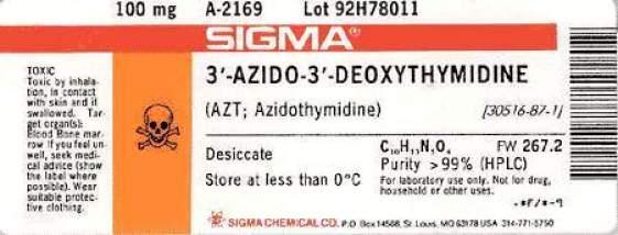 AZT azidothymidine label research preclinical chemical