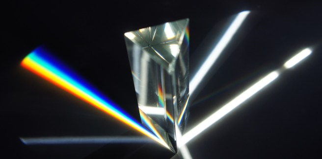 prism scattering light colors wavelengths