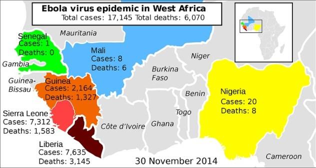 2014 ebola virus epidemic numbers