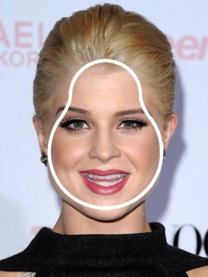 the best (and worst) bangs for pear-shaped faces - the