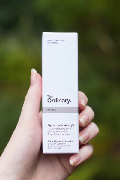 The Ordinary Alpha Lipoic Acid packaging box