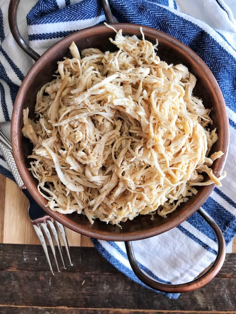 Instant Pot Shredded Chicken Finished product photo
