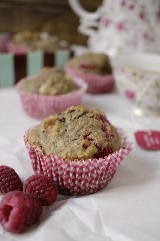Healthy Breakfast Idea - Whole Wheat Raspberry Muffin
