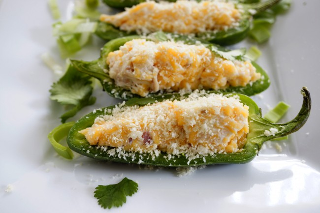 BAKED INSTEAD OF DEEP FRIED JALOPENO POPPERS  - GOOD FOR YOUR DIET