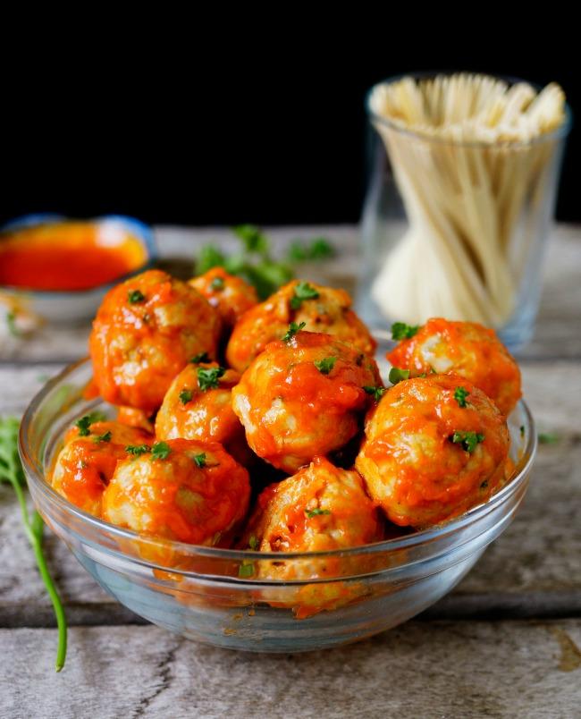 1 Meatball Recipe 3 Ways -Blue Cheese Stuff, Classic or Buffalo Wings Flavor