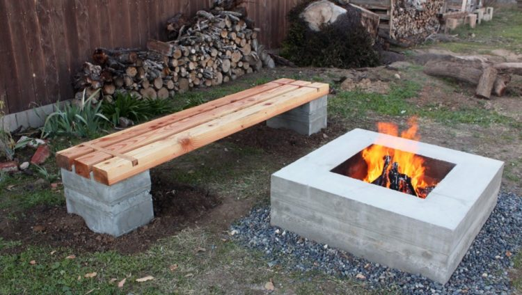20 Outstanding Cinder Block Fire Pit Design Ideas For Outdoor on Simple Cinder Block Fireplace id=45329