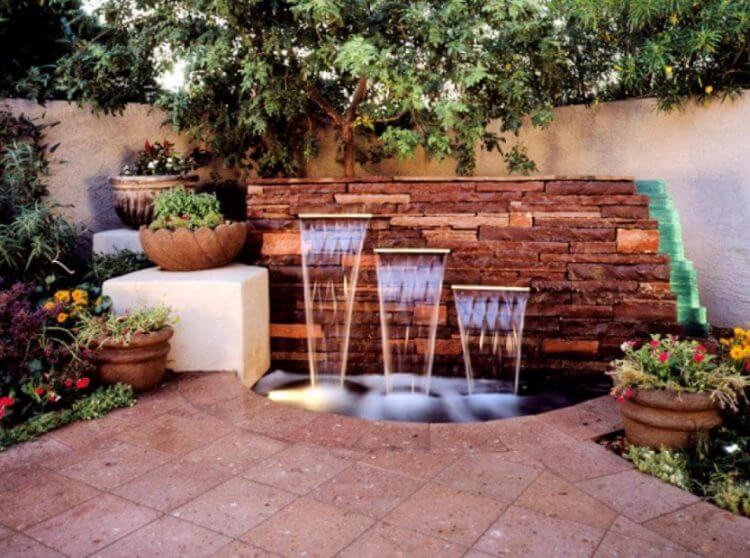 21 Backyard Wall Fountain Ideas to Wow Your Visitors - TSP ... on Wall Ideas For Yard id=62173