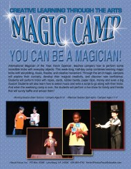MAGIC CAMP EMAIL FLYER