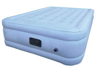 Raised King Size Air Bed With Bamboo Topper
