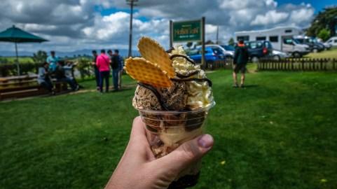 Hobbiton ice cream sundae