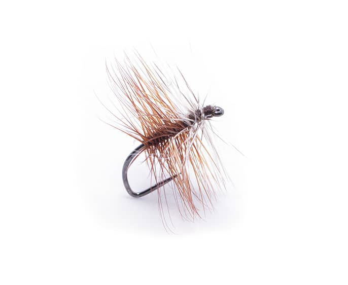 Four High Summer Dry Flies Brown BiVisible