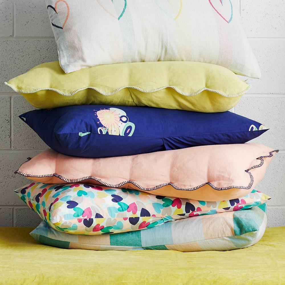 Scalloped Coral Pillowcase